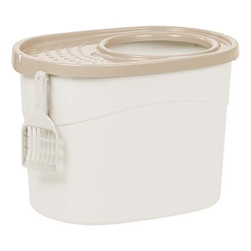 IRIS Top Entry Cat Litter Box with Scoop Now $13.96