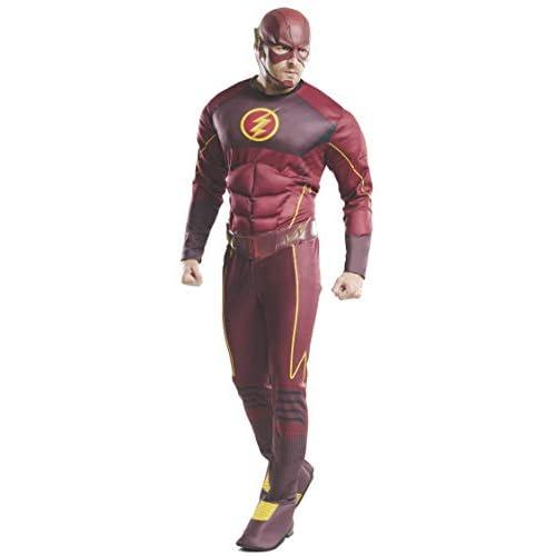 Rubie' s ufficiale DC Comics The Flash Deluxe, adulto costume–standard, torace 111,8cm, vita: 30–86,4cm, cavallo 83,8cm