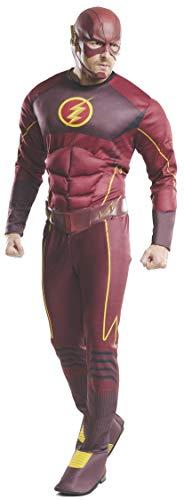 Rubie  s costume deluxe da Flash, ufficiale DC Comics, da adulti, taglia XL, busto 112-117 cm, vita 91,5 cm, cavallo 84 cm