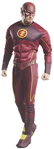Rubie's - The Flash Deluxe - Adult, Action Dress Ups en accessoires