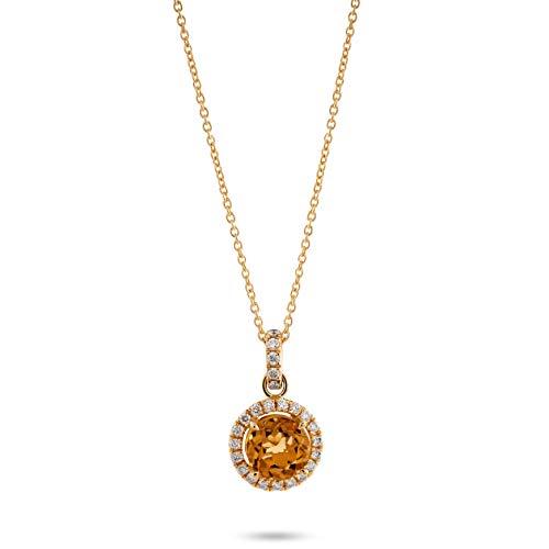 Orphelia Damen-Ketten mit Anhänger 18_k_(750) Gelbgold Diamant KD-2042