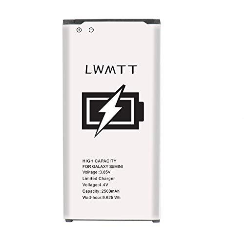LWMTT 2500mAh Akku kompatibel mit Samsung Galaxy S5 Mini.Verbesserte Ersatz für Samsung S5 Mini Lithium-Ionen-Akku Ersatz MIT Hohe Kapazität(OHNE NFC)