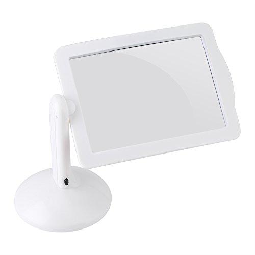 Fdit 360 ° Drehbar LED Lupe Freisprecheinrichtung 3 x rechteckig LED-Bildschirm Lesen Lupe mit Ständer