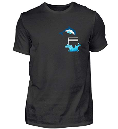 Delfin in de borstzak voor visliefhebbers - heren shirt