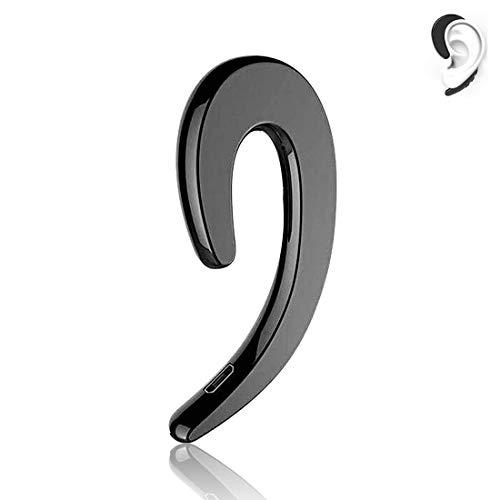 2021 Latest Modern Sound Bone Conduction Hook Earphone- Ear Wireless Waterproof Stereo Bone Conduction Headphone for Sport Swimming- Lightweight Ear-Hook Bluetooth Headset with Mic Black Black
