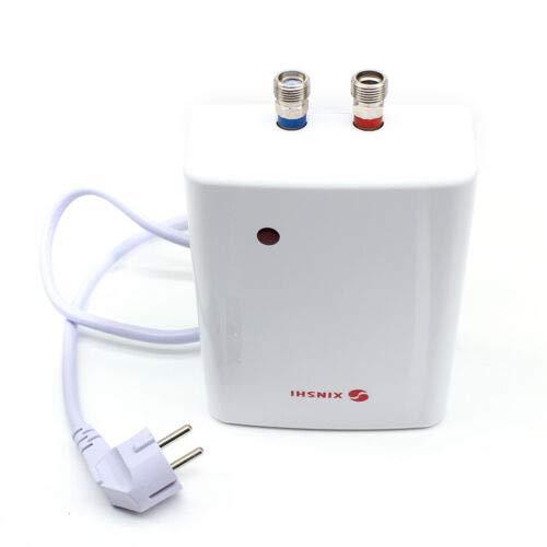 Fetcoi Calentador de agua eléctrico instantáneo para el hogar, pequeño calentador de agua de calentamiento rápido, para baño con temperatura constante y calentamiento rápido