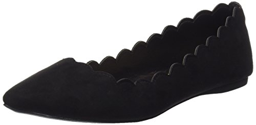 Dorothy Perkins Pacha Scallop, Ballerines plates femme - Noir (noir), 38 EU (5 UK)