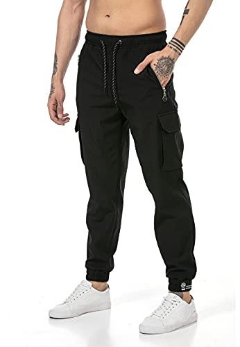 Redbridge Pantalón Chandal para Hombre Joggers Sweat-Pants Cargo Negro XXL