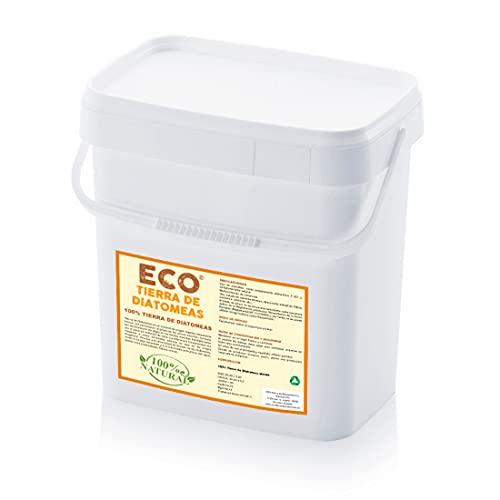 ECO Tierra de Diatomeas® Molida 5kg - 100% Natural y Ecológico - Grado alimenticio E551c. No calcinada, sin aditivos (5, Blanco)