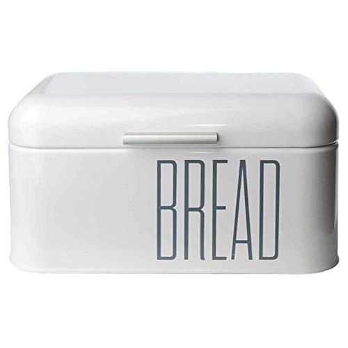 DRULINE Brotkasten Metall | Brotbox | Brotkiste | Brot | Aufbewahrungsbox | Brotkiste | Frischhaltebox | Küche | Büro | Picknick | Hochwertig verarbeitetes Metallblech | Großer Stauraum | L x B x H 30 x 16 x 18 cm | Weiß