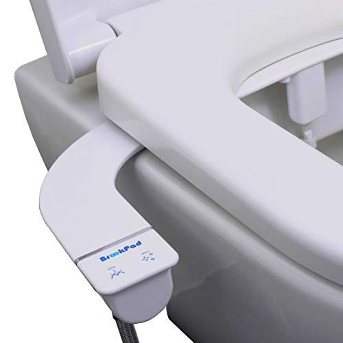 BrookPad EcoSplash 250S - Inodoro para bidé con chorro de agua dulce | No electrico | Boquilla autolimpiante | Diseño delgado sofisticado de 5.2 mm
