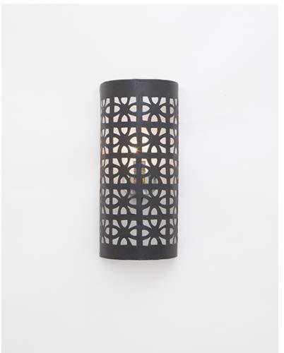 Marokkaanse ijzeren wandlamp - ijzer - H40 x B20 x D10 cm