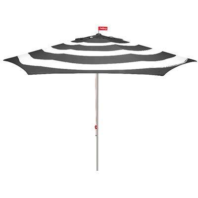 Fatboy - Parasol Stripesol Windcatcher Anthracite- avec Système Anti-Vent