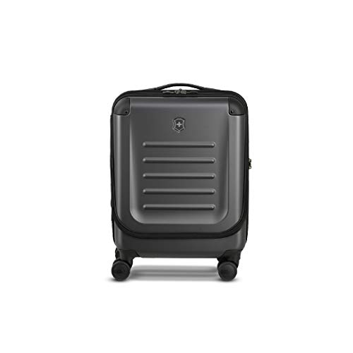 """Victorinox Spectra 2.0 Dual-Access Hardside Spinner Suitcase, Black, Carry-On, Global (21.7"""")"""