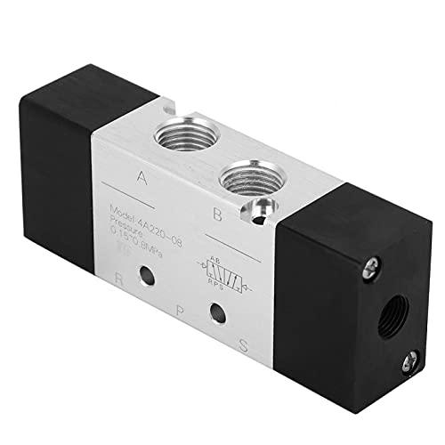 LANTRO JS - Válvula neumática de aire, alta calidad 4A220-08 Válvula de aire neumática de 2 posiciones y 5 vías Entrada/Salida PT1 / 4in para equipos mecánicos