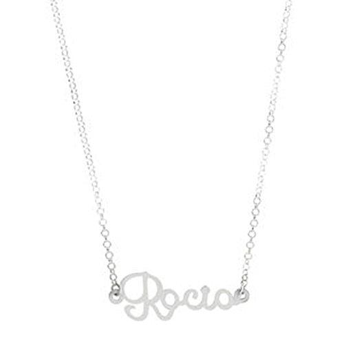 Córdoba Jewels | Gargantilla de Plata de Ley con diseño Rocio Silver de 30x11mm.Largo 40cm.con Cadena para Ajustar.