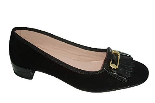 Zapatos Nieves Martín Euforia Valentina, Ballerine Donna Nero Size: 38 EU