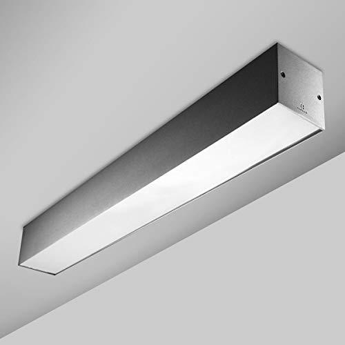 Leds-c4 Infinite TL-lamp, oneindig, polycarbonaat, standaard, 2 x 39 W, grijs
