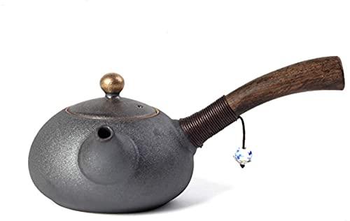 ZHIRCEKE Tetera de cerámica Hecha a Mano de Arcilla de Arte Chino Tetera de cerámica Hecha a Mano para Kung fu té tetón de ébano Tetera Tetera de Tetera de Tetera