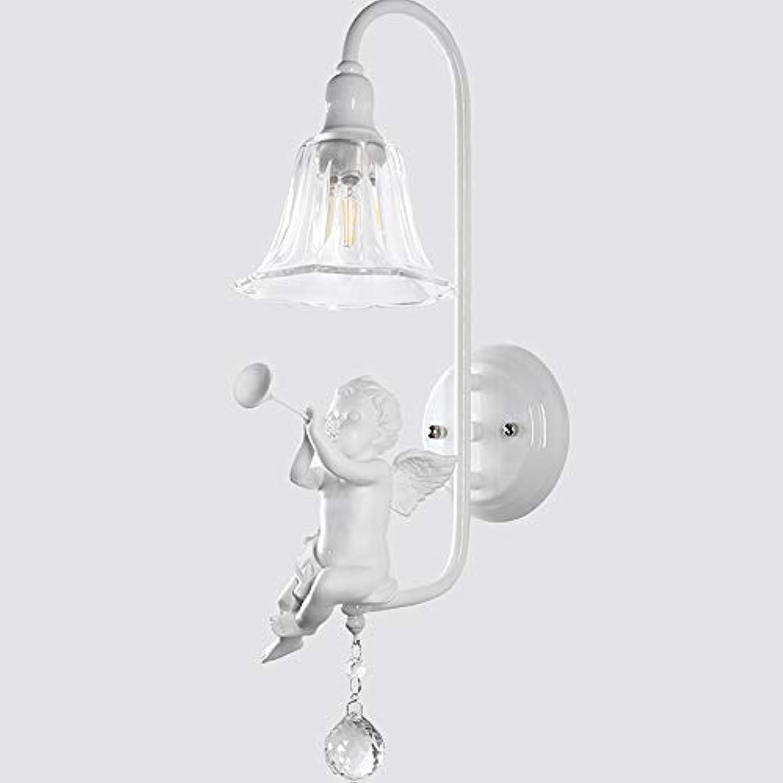 Mode Modernes minimalistisches Harz des Harzes E14 Schlaghornvogelschlafzimmernachttischlampe Wandlampe führte Kristallglas Schn