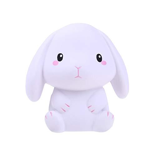 Miss Fortan 2 PC Squeeze Squishy Weißes Kaninchen, langsamer Rückprall, Dekompressionsspielzeug
