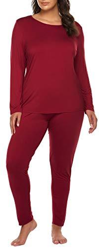Women's Plus Size Long Johns Sets 2 Pcs Base Layer Sets Thermal...