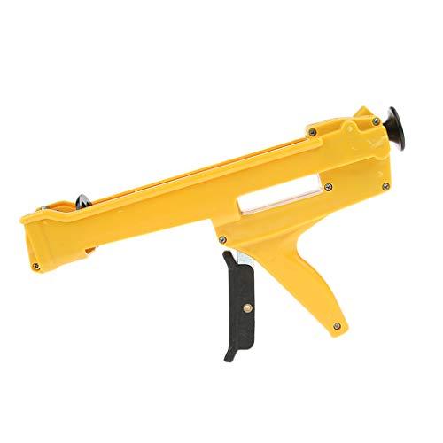 Kartuschenpistole Druckluft Ein Komponent Kartuschenpress aus ABS-Kunststoff und Metall Silikonpistole Silikonspritze für 300-340ml Kartusche