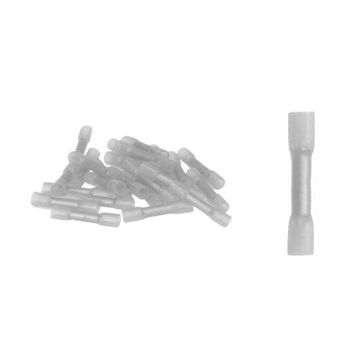 25 Stück Stoßverbinder mit Schrumpfschlauch weiss 0,1-0,5 qmm