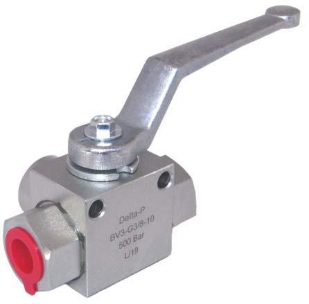 Delta-P - Válvula hidráulica de alta presión (3 vías, 3/8') BSP