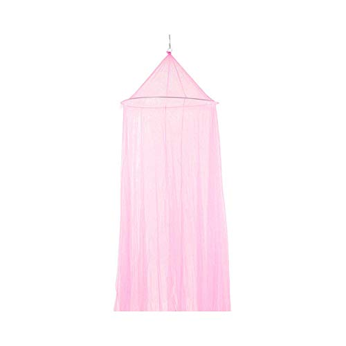 Princess Mosquito Net, Real Round Bed Mosquito Net 60x250x820cm Dome Hanging Cotton Canopy Curtain for Hammock Kids Dossel 4 Kinds of Color-Pink