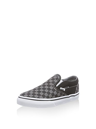 Vans Kids' Classic Slip-On Core-K, Check Black/Pewter, 4 M US Toddler