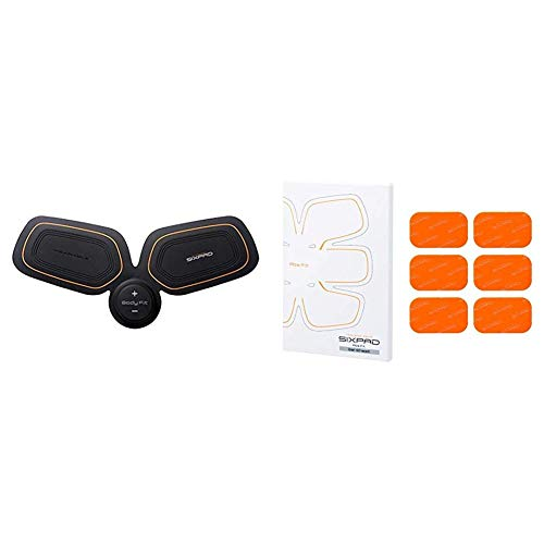 SIXPAD Unisex Body Fit EMS Trainer Training Gear Black One Size Abs Fit Fit2 Gel Sheet Pack Orange One Size