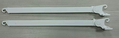 Braccetti Per Tenda Da Sole A Caduta 50/60/70 Cm Fissaggio Ringhiera O Muretto (70 Cm Fissaggio Su Muretto, Bianco)