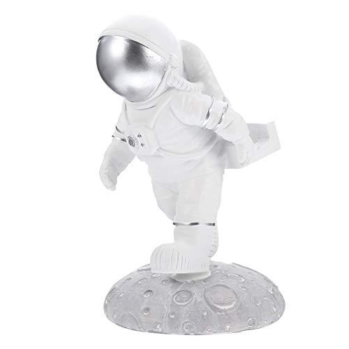 Homoyoyo Soporte de Teléfono Móvil para Decoración de Habitación de Escritorio Resina Astronauta Estatuilla Astronauta Decoración para El Hogar Estatua de Hombre Espacial Figura Decoración