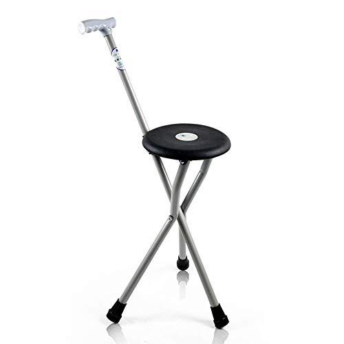 Y-L wandelstok met zitting met ergonomische antislipvoetstang Lichtgewicht wandelstokken