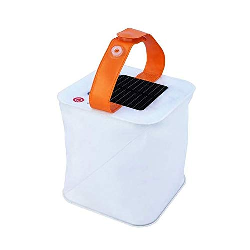 Relax Solar Inflatable Lantern Waterproof Foldable Telescopic Solar Light Portable Emergency LED Light with Touch Sensitive Switch for Camping Hiking Travelling Comfortable