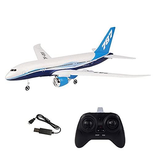 Ymxcwer85851 QF008-Boeing 787 2.4GHz 3CH EPP RC Avión de ala Fija Escala RTF Aeromodelismo (Blanco) 1 Batería