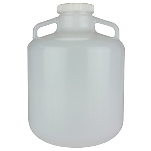 Nalge Nunc Carboys with Handles, Wide Mouth, Low-Density Polyethylene, NALGENE 2234-0030,