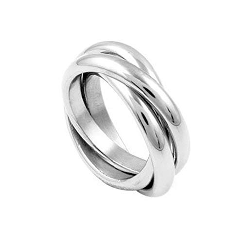 Genuine 925 Sterling Silver 3 Band Russian Wedding Ring (X)