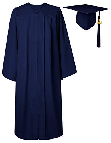 GraduatePro Abschluss Robe Hut Abi Kostüm Bachelor Geschenke Dekoration 2020 Geschenk Outfit Akademischer Uni Abitur Kappe Marineblau