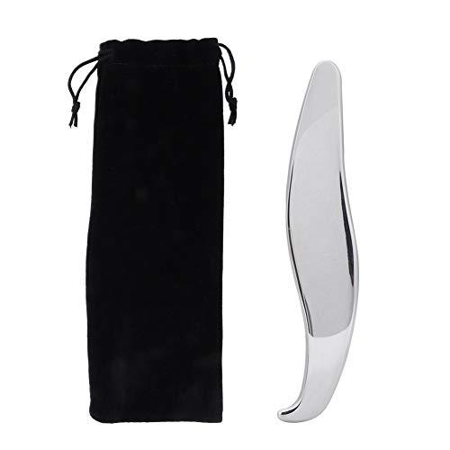 Handheld Roestvrijstalen Schraapplank Gua Sha Massageplaat, Draagbare Body Scrapper Plaat Pijnbestrijding Guasha Gereedschappen voor Het Hele Lichaam