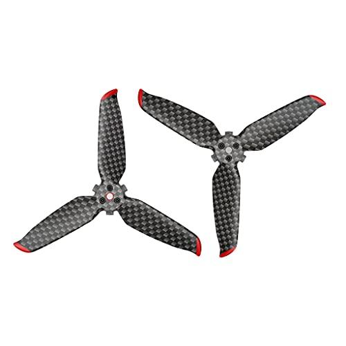 SunniMix RC Leggero 5328S a Sgancio Rapido in Fibra di Carbonio Elica Tri-Lama Oggetti di Scena per Il DJI FPV RC Drone Quadcopter Accessorio sostituisce Pezzi - 2pcs