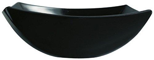 Dajar 6931 Salatschale Quadrato 24cm schwarz LUMINARC, Glas, 24 x 24 x 8,2 cm