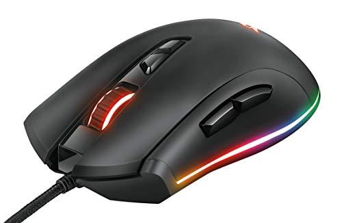 Trust GXT 900 Kudos RGB Gaming-Maus (RGB LED-Beleuchtung, 100-15000 DPI, 7 Tasten) schwarz