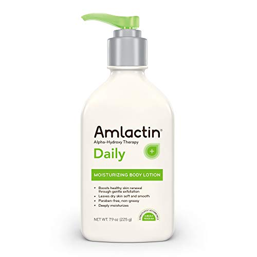 AmLactin Daily Moisturizing Body Lotion, 7.9 Ounce (Pack of 1) Bottle, Paraben Free