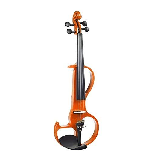 THQC Elektrische Violine 4/4 volle größe Violine mit case Bogen kopfhörer robosin Set stille Violine