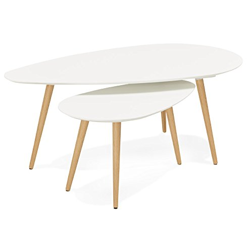 Alterego - Tables gigognes Design 'TETRYS' Blanches