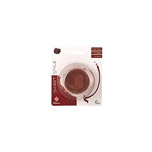 HOME Choco moldes, 9.5cm, Pack de 6Unidades, Silicona, marrón