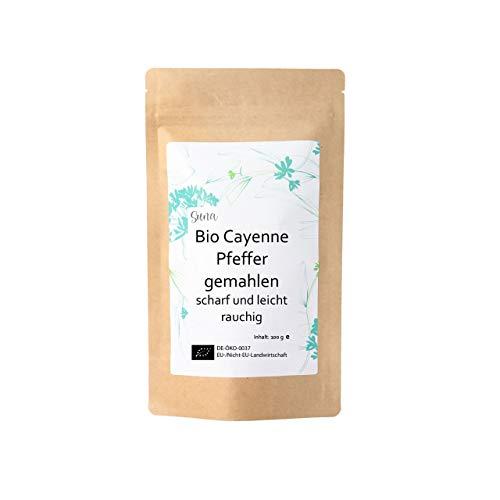 Suna® Bio Cayenne Pfeffer gemahlen | scharf und leicht rauchig | Päckchen 100 g