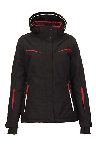 Killtec Carol ski-jack voor dames, snowboardjas, functionele jas met afritsbare capuchon en sneeuwvanger